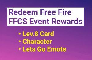 Free Fire FFCS Event rewards redeem code